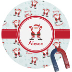 Santa Claus Round Magnet (Personalized)
