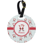 Santa Claus Round Luggage Tag (Personalized)