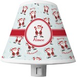 Santa Clause Making Snow Angels Shade Night Light w/ Name or Text