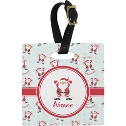Santa Claus Square Luggage Tag (Personalized)