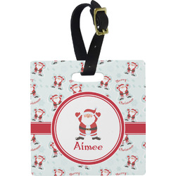 Santa Claus Square Luggage Tag (Personalized)