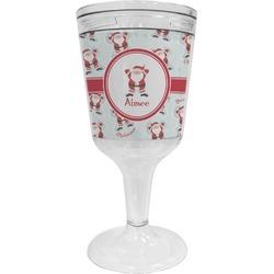 Santa Claus Wine Tumbler - 11 oz Plastic (Personalized)