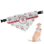 Santa Clause Making Snow Angels Dog Bandana (Personalized)