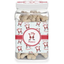 Santa Claus Pet Treat Jar (Personalized)