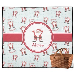 Santa Claus Outdoor Picnic Blanket (Personalized)