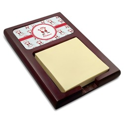 Santa Claus Red Mahogany Sticky Note Holder (Personalized)