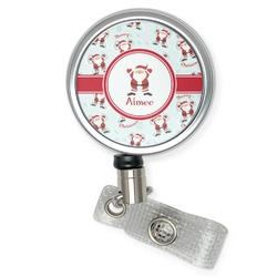 Santa Claus Retractable Badge Reel (Personalized)