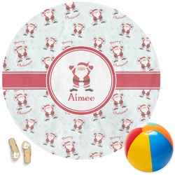 Santa Claus Round Beach Towel (Personalized)