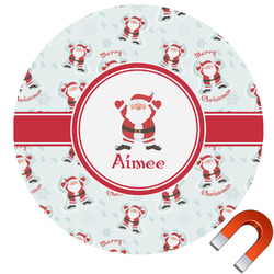 Santa Claus Round Car Magnet (Personalized)