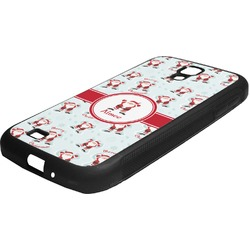 Santa Claus Rubber Samsung Galaxy 4 Phone Case (Personalized)