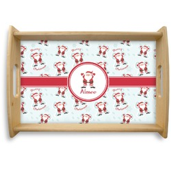 Santa Claus Natural Wooden Tray (Personalized)