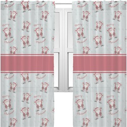 Santa Claus Sheer Curtains (Personalized)