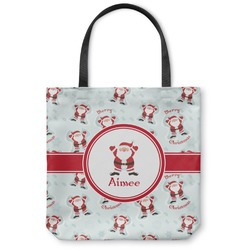 "Santa Claus Canvas Tote Bag - Small - 13""x13"" (Personalized)"