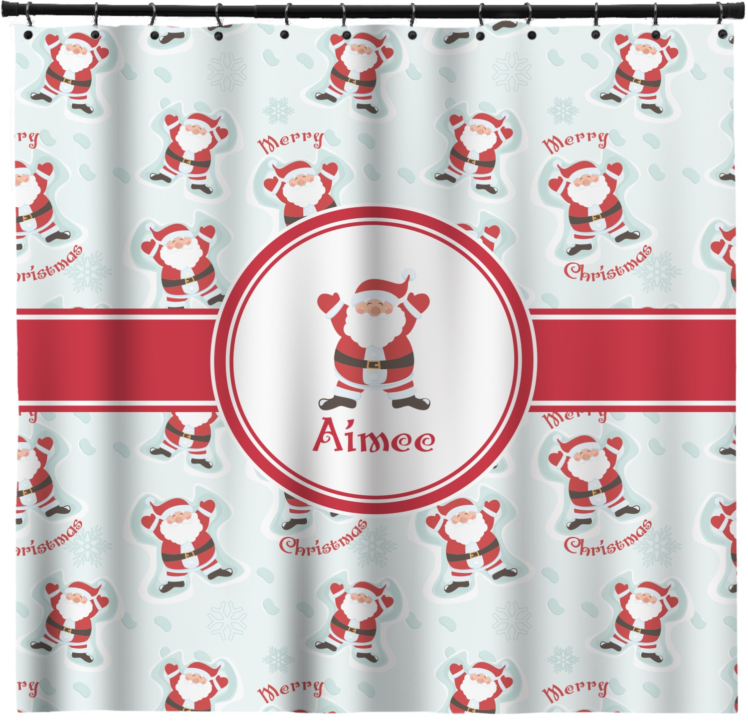 Santa Claus Shower Curtain Personalized