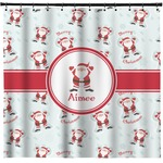 Santa Clause Making Snow Angels Shower Curtain (Personalized)