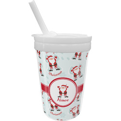 Santa Claus Sippy Cup with Straw (Personalized)