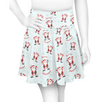 Santa Clause Making Snow Angels Skater Skirt (Personalized)