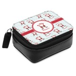 Santa Claus Small Leatherette Travel Pill Case (Personalized)