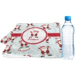 Santa Clause Making Snow Angels Sports & Fitness Towel w/ Name or Text