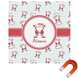 Santa Claus Square Car Magnet (Personalized)