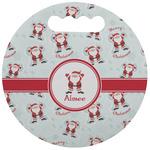Santa Clause Making Snow Angels Stadium Cushion (Round) (Personalized)