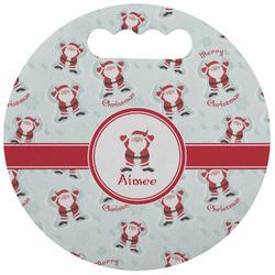 Santa Claus Stadium Cushion (Round) (Personalized)