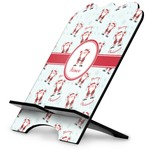 Santa Clause Making Snow Angels Stylized Tablet Stand w/ Name or Text