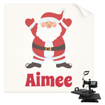 Santa Clause Making Snow Angels Sublimation Transfer (Personalized)