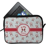Santa Clause Making Snow Angels Tablet Case / Sleeve (Personalized)