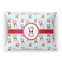 Santa Claus Rectangular Throw Pillow Case (Personalized)