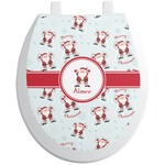Santa Claus Toilet Seat Decal (Personalized)