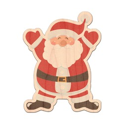 Santa Claus Genuine Maple or Cherry Wood Sticker (Personalized)