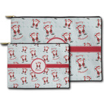 Santa Clause Making Snow Angels Zipper Pouch (Personalized)