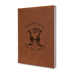 Santa Clause Making Snow Angels Leatherette Journal (Personalized)