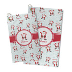 Santa Clause Making Snow Angels Microfiber Golf Towel (Personalized)