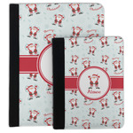 Santa Clause Making Snow Angels Padfolio Clipboard (Personalized)