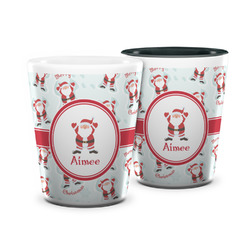 Santa Clause Making Snow Angels Ceramic Shot Glass - 1.5 oz (Personalized)