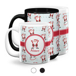 Santa Clause Making Snow Angels Coffee Mugs (Personalized)