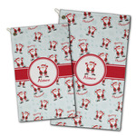 Santa Clause Making Snow Angels Golf Towel - Full Print w/ Name or Text