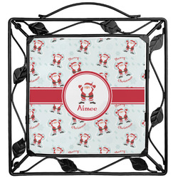 Santa Clause Making Snow Angels Trivet (Personalized)