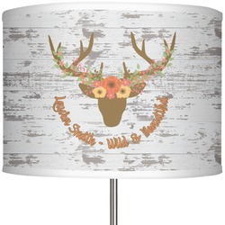 "Floral Antler 13"" Drum Lamp Shade (Personalized)"