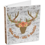 Floral Antler 3-Ring Binder (Personalized)