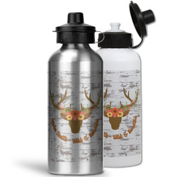 Floral Antler Water Bottles- Aluminum (Personalized)
