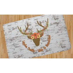 Floral Antler Area Rug (Personalized)