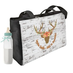 Floral Antler Diaper Bag w/ Name or Text