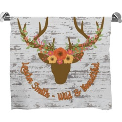 Floral Antler Bath Towel (Personalized)