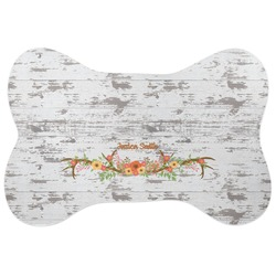 Floral Antler Bone Shaped Dog Food Mat (Personalized)