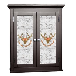 Floral Antler Cabinet Decal - Custom Size (Personalized)