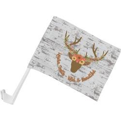 Floral Antler Car Flag (Personalized)