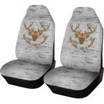 Floral Antler Car Seat Covers (Set of Two) (Personalized)
